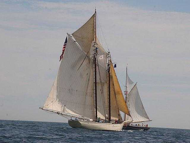Spirit of Massachusetts , based in Boston, is owned by the Ocean Classroom Foundation. The schooner sails on programs of education teaching youth groups during semesters at sea adventures.