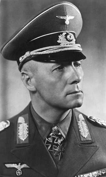 Erwin Rommel was the World War II German Field Marshal popularly known as the Desert Fox. After being caught in a failed plot to kill Hitler, he was allowed to commit suicide. (15 November 1891 – 14 October 1944)