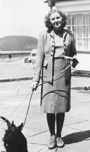 Eva Braun was the long-time mistress of Adolph Hitler and briefly his wife. She committed suicide along with Hitler. (6 February 1912 – 30 April 1945)