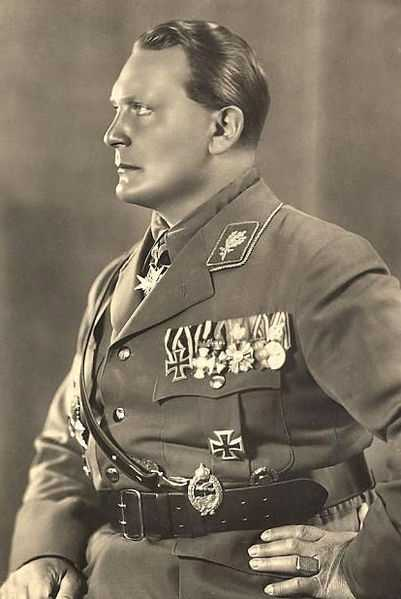 Hermann Goering was a leading member of the Nazi Party who eventually fell out of favor with Hitler. After World War II ended, Goering was convicted at the Nuremberg War Crimes Trials, but committed suicide with cyanide the night before he was to be hanged to death. (12 January 1893 – 15 October 1946)