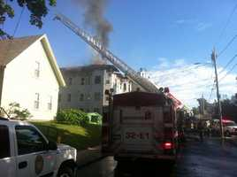 Fire officials said the first building contained seven apartments, including one in the basement.