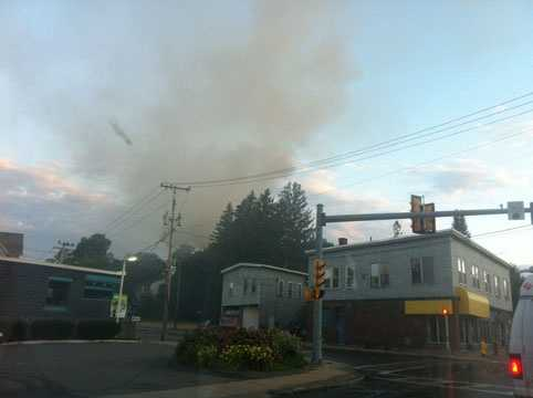 Fire officials are investigating the cause of a 4-alarm blaze in Gardner that displaced several people Monday morning.