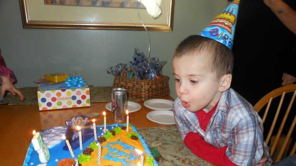 Michael Cyr turned 3 years old in March.