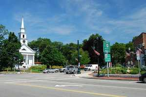 #25 Sharon. The average property tax on a home in 2010 was $8,310