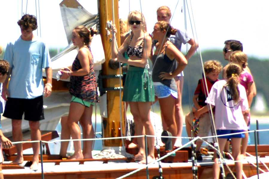 Members of the Kennedy family who were with Taylor Swift in Hyannisport included Ted Kennedy Jr., Rory Kennedy, Patrick Kennedy and his wife and two children.