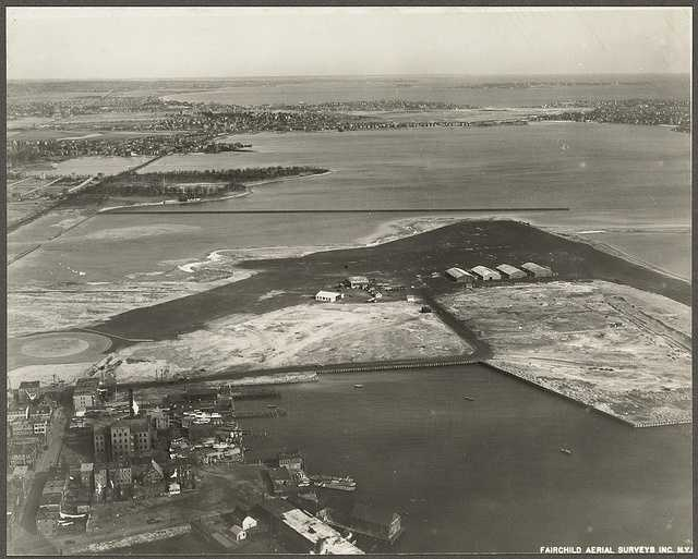 What is now Logan International Airport is seen from the air in 1928.