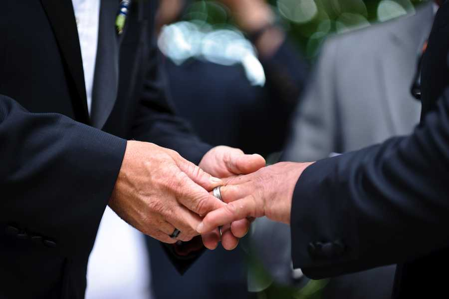 Frank spokesman Harry Gural says the 72-year-old congressman married 42-year-old Jim Ready in a Saturday evening wedding at the Boston Marriott hotel in Newton.