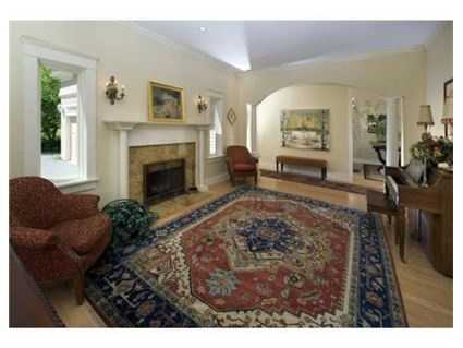 A 17x13 living room is located on the first floor and features hardwood floors, which are found throughout the home.