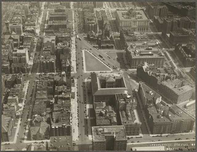 This is a view of the Copley Square area in 1930