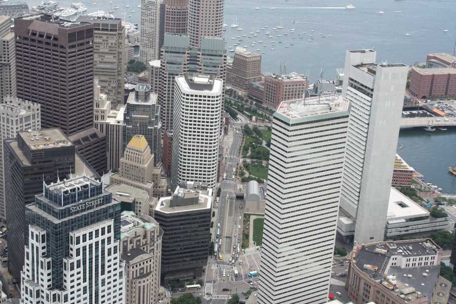 This is a similar view of the Post Office Square and Financial District in 2012
