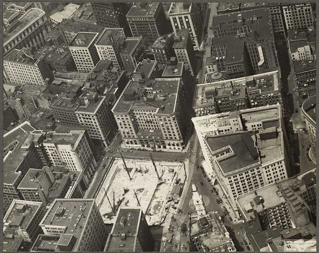 This is the view of Post Office Square in 1931 before the construction of the old Post Office and Federal Court building.