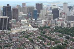"And photographs taken from Live Sky 5, here is a look at Boston ""Then and Now"" as seen from the air."