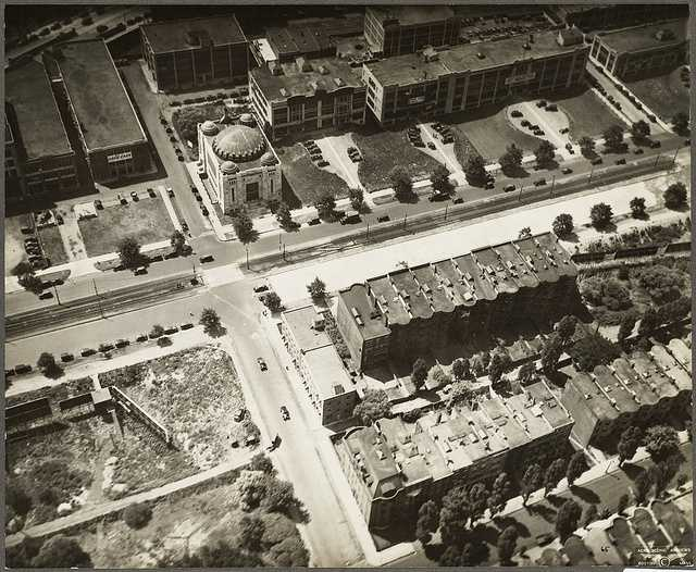 Commonwealth Avenue and Temple Israel in 1929.