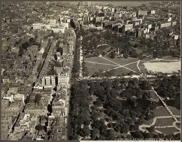 Beacon Hill, the Boston Common and Public Garden in 1925.