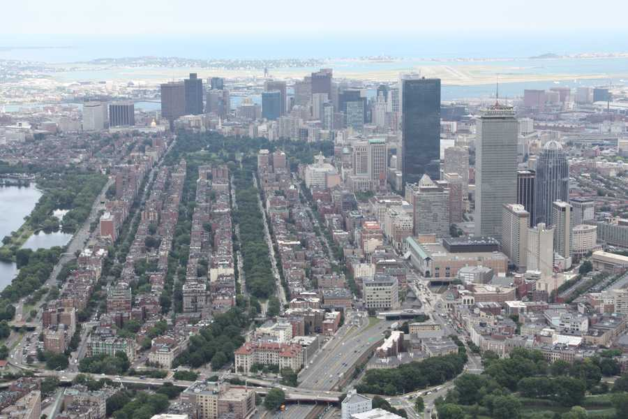 The Back Bay with the Financial District in the background in 2012.