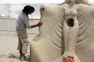 Revere Beach now draws crowds with the annual National Sand Sculpting Festival.