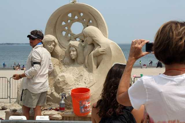 Dan Belcher is from St. Louis and has been creating sand sculpture around the world since 1990.