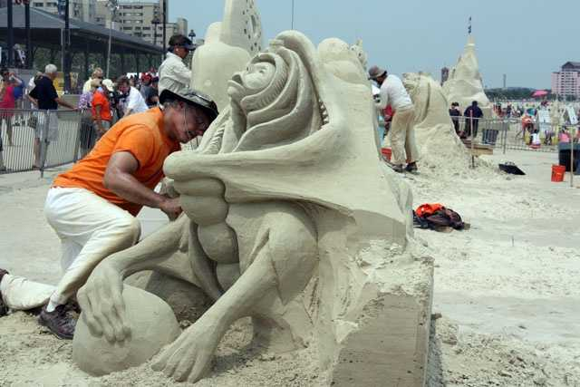 He is self-taught and has been sculpting for 28 years.  He has been featured on WCVB-TV's Chronicle program.