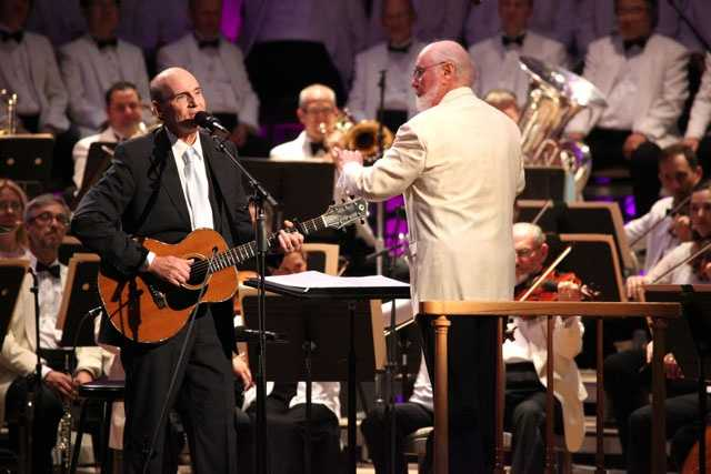 John Williams leading the Boston Pops with James Taylor