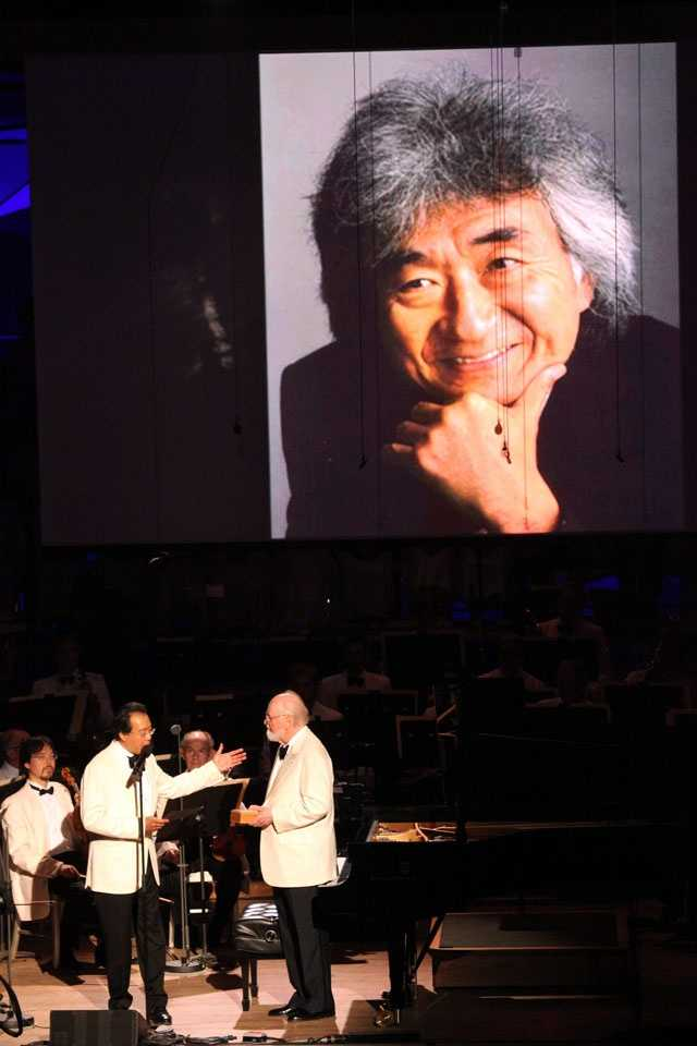 The celebration featured a new tradition for the orchestra with the first Tanglewood Medal awarded to Japanese conductor Seiji Ozawa for his 29-year tenure as the BSO's music director.