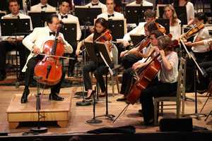 The Boston Symphony Orchestra held a star-studded concert to celebrate its 75th season at its summer home in Tanglewood. Yo-Yo Ma is seen with the Tanglewood Music Center Orchestra.
