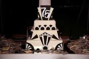 The 75th Anniversary cake.
