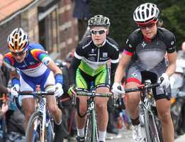 In just three years as a professional cyclist, the former Dartmouth College tennis player (right) has emerged as one of the top medal contenders.