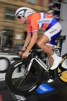 Stevens is a former Lehman Brothers associate who took up the sport in 2007 when her sister randomly signed her up for a cycling event.