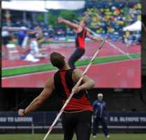 The former Methuen High School quarterback took up the javelin after joining the track team as a way to stay in shape for football season.