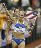 Flanagan won a bronze medal at the 2008 Beijing Olympics in the women's 10,000m, becoming only the second American woman to receive an Olympic medal in that event.
