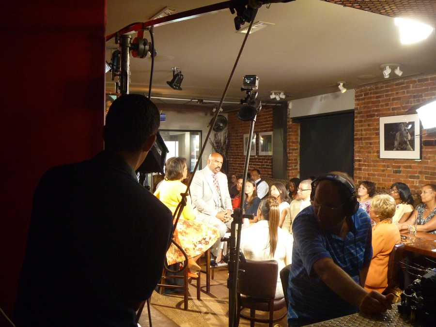 Another behind-the-scenes view of the interview