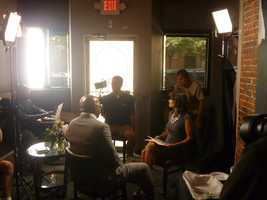 """And the interview begins! Don't miss """"Steve Harvey"""" premiering September 4 on WCVB at 10 a.m."""