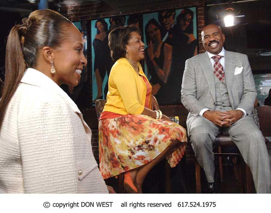 Steve Harvey's Wife, Marjorie Bridges-Woods got a front row seat to the CityLine interview.