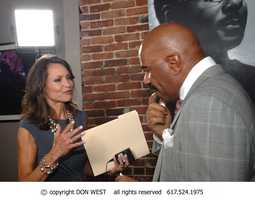 Talk show host Steve Harvey responds to questions during an interview with Liz Brunner.
