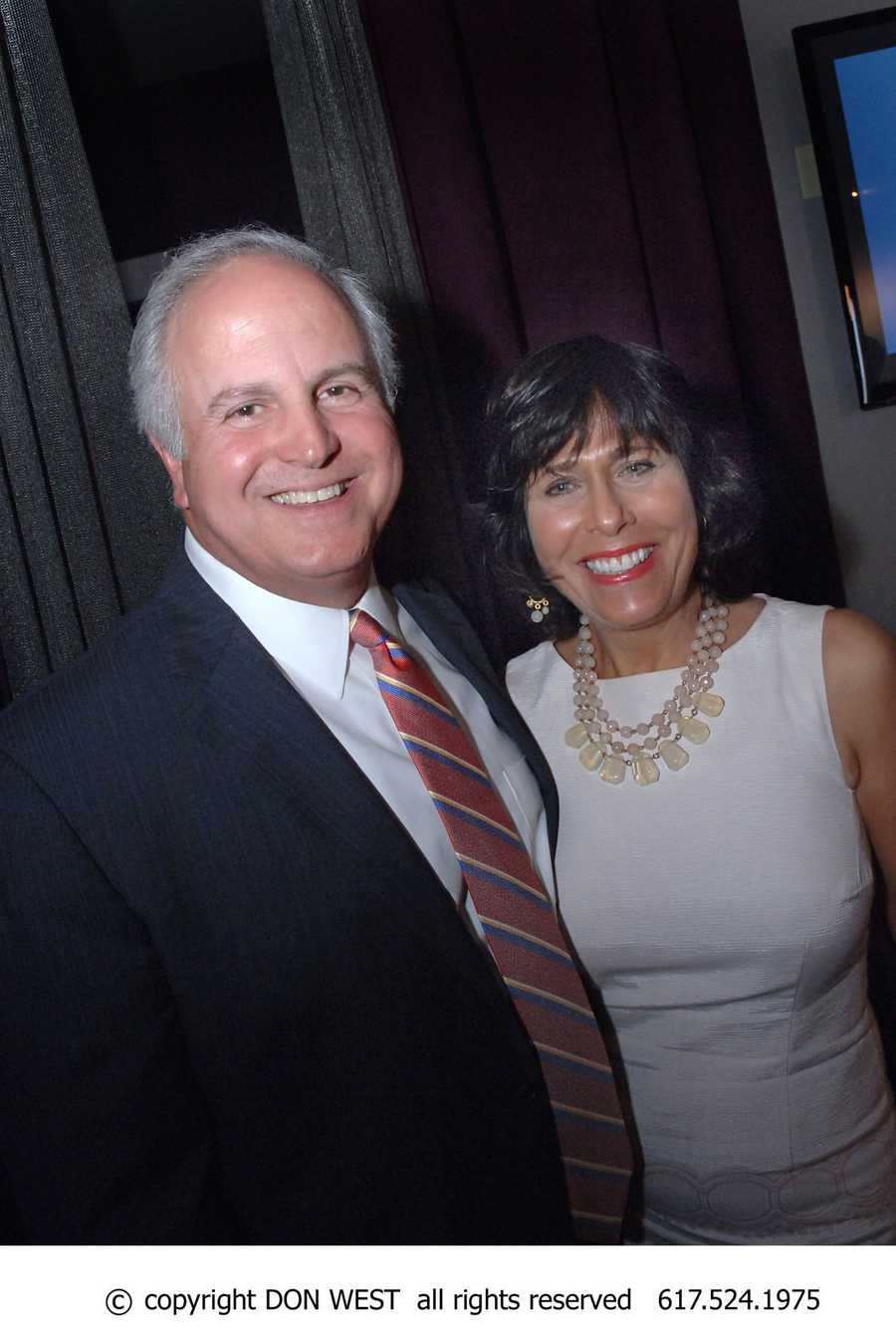 WCVB's President and General Manager, Bill Fine attended the event with his wife Gail.