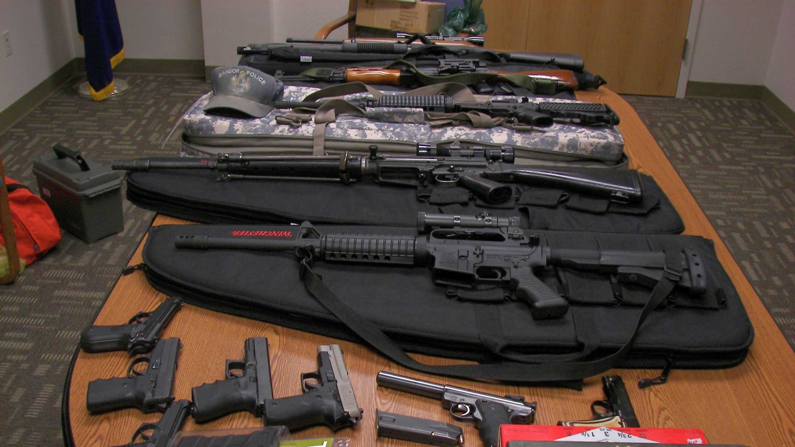 This is the arsenal of weapons police say they seized from Timothy Courtois.
