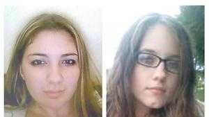 Nicole Simanski, 16, left, and Linda Tillett, 17, of Taunton, reported missing since 2:30 p.m. Tuesday.