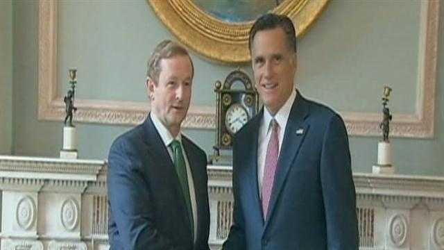 Mitt Romney in London, meets with Prime Minister David Cameron