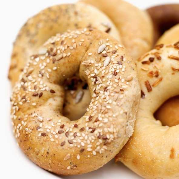 Whole grain bagels are bursting with B vitamins. Topping them with a bit of peanut butter adds fatty acids that can decrease the production of stress hormones.