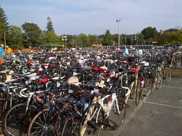 The bikes waiting in Sturbridge
