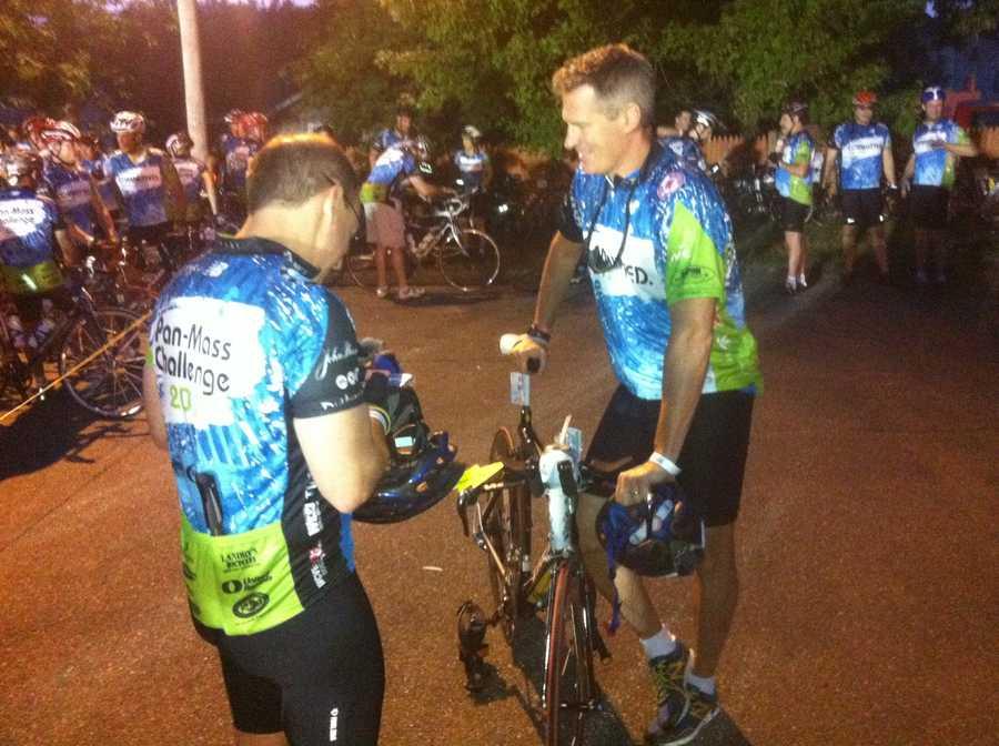 Sen. Scott Brown prepares to ride.