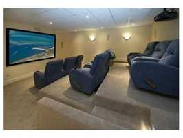 A home theater provides the perfect place to entertain.