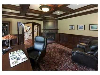 A home office is located off the foyer on the first floor.