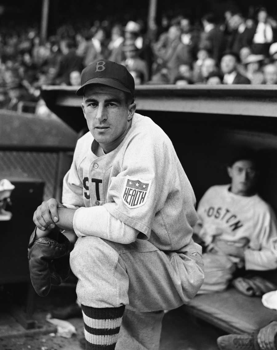 Johnnny Pesky with the Red Sox on Sept. 2, 1942.