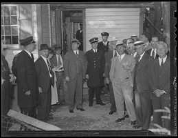 The jury in the case views Asquith's home in Weymouth.