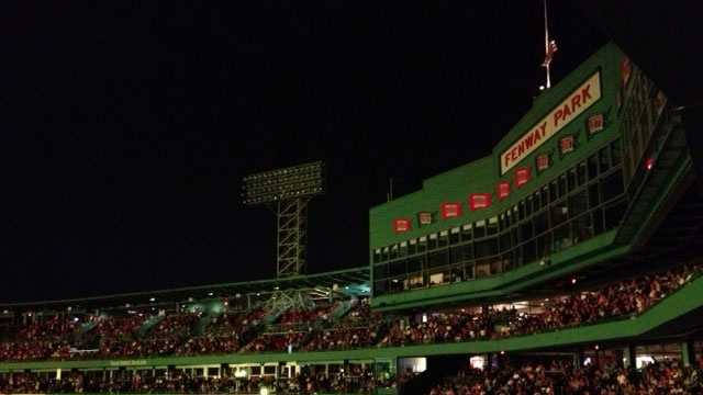 Concert at Fenway, park lit up