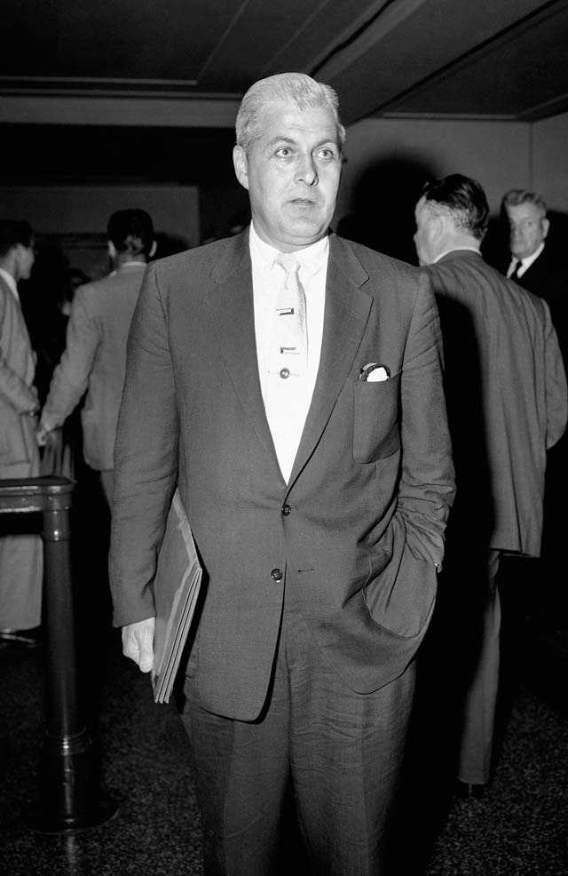 James J. Strafford, an FBI agent who was the second witness to testify in Brinks trial in Boston on August 31, 1956.