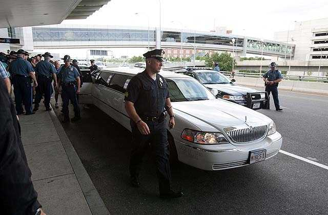 A limousine waited at Logan to take her home to Needham.