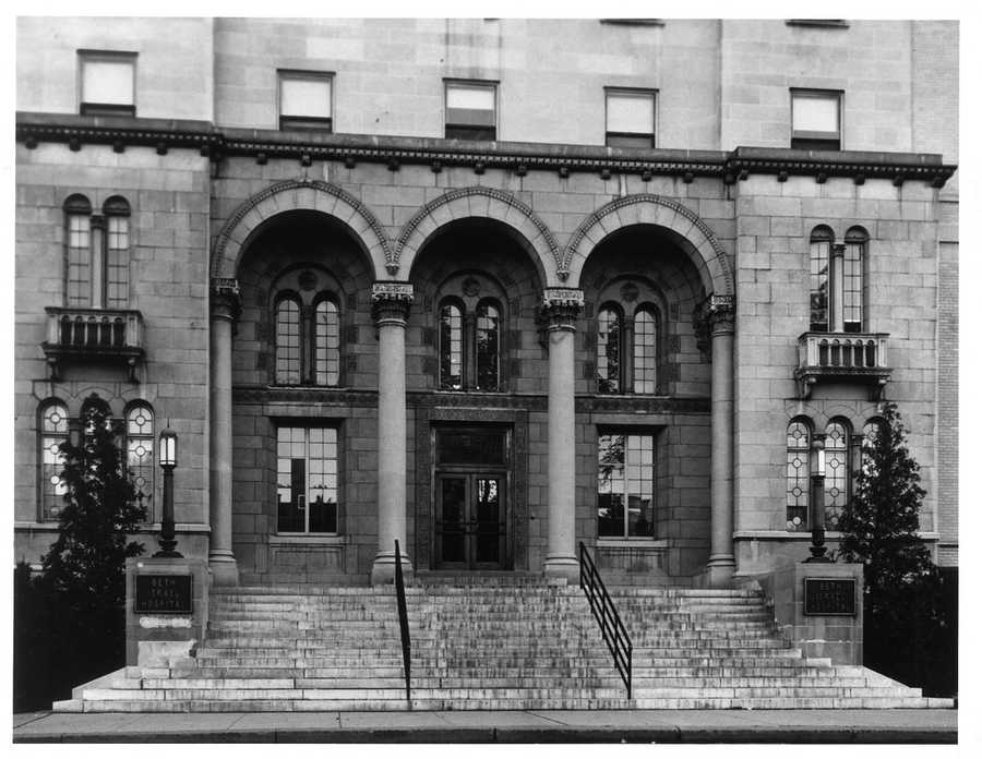 Before the addition of the modern Feldberg building in 1976, this doorway served as main entrance to the Beth Israel Hospital for almost half a century.