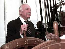 Walter Cronkite takes the helm of Constitution 21 July 1997.